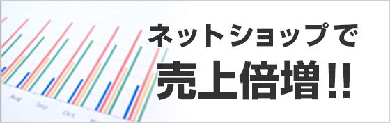 ネットショップで売り上げ倍増!!